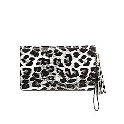 Star by Julien MacDonald - Designer black leopard clutch bag