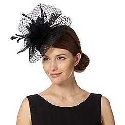 Principles by Ben de Lisi - Designer black gathered mesh corsage fascinator