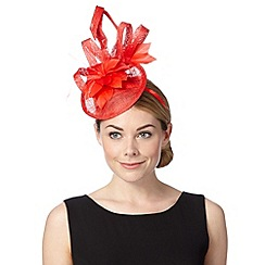Principles by Ben de Lisi - Designer red floral disc fascinator
