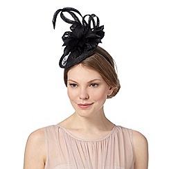 Principles by Ben de Lisi - Designer black floral disc fascinator