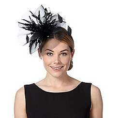 Principles by Ben de Lisi - Designer black mesh cloud corsage fascinator