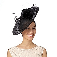 Principles by Ben de Lisi - Designer black lace detail saucer fascinator