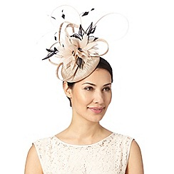 Principles by Ben de Lisi - Designer natural lace and feather flower button fascinator