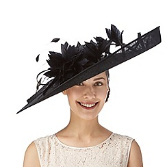 Principles by Ben de Lisi - Designer black oversized lilly flower fascinator