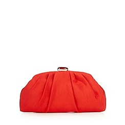 Principles by Ben de Lisi - Designer red pleated dome clutch bag