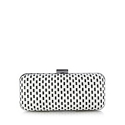 Principles by Ben de Lisi - Designer black spotted and striped clutch bag