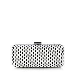 Principles by Ben de Lisi - Designer black spotted and striped clutch bag