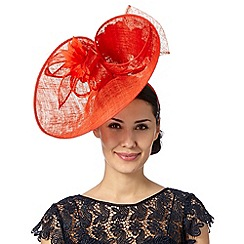 Principles by Ben de Lisi - Designer red back bow saucer fascinator