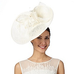 Principles by Ben de Lisi - Designer cream back bow saucer fascinator
