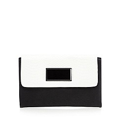 Principles by Ben de Lisi - Designer white square detail clutch bag