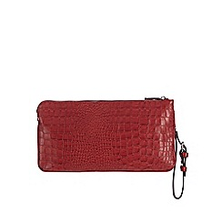 Principles by Ben de Lisi - Designer red croc effect two part clutch bag