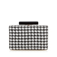 Principles by Ben de Lisi - Designer black dogtooth box clutch bag
