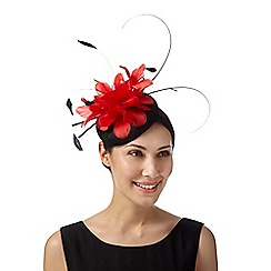 Principles by Ben de Lisi - Designer red two tone flower button fascinator