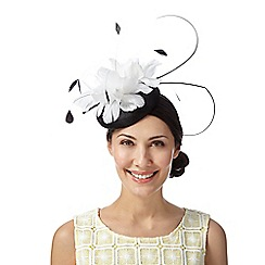 Principles by Ben de Lisi - Designer ivory two tone flower button fascinator