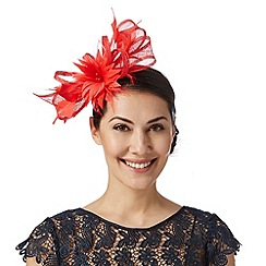Principles by Ben de Lisi - Designer red flower bow fascinator