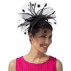 Principles by Ben de Lisi - Designer black crystal flower fascinator