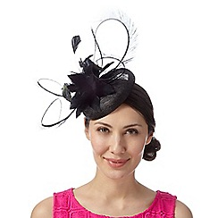 Principles by Ben de Lisi - Designer black feather button fascinator