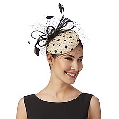 Principles by Ben de Lisi - Designer natural polka dot button fascinator