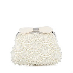 No. 1 Jenny Packham - Designer cream pearl and bow pouch bag