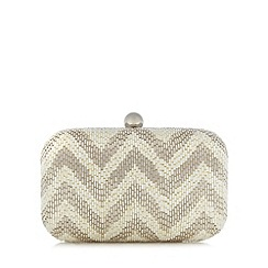 No. 1 Jenny Packham - Designer ivory beaded chevron clutch bag
