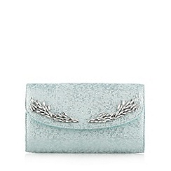 No. 1 Jenny Packham - Designer light green brocade clutch bag