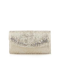 Designer cream brocade clutch bag