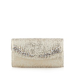 No. 1 Jenny Packham - Designer cream brocade clutch bag