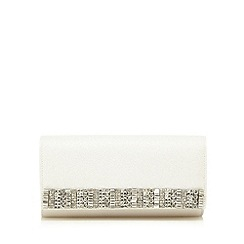 No. 1 Jenny Packham - Designer white diamante edge clutch bag