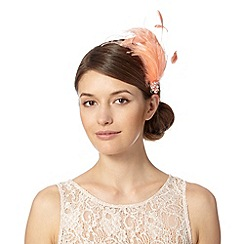 No. 1 Jenny Packham - Designer dark peach fluffy feather hair clip