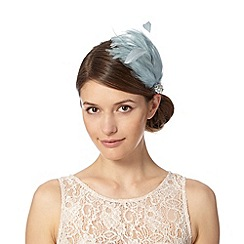 No. 1 Jenny Packham - Designer pale blue fluffy feather hair clip