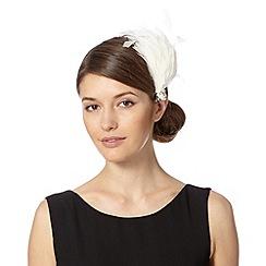 No. 1 Jenny Packham - Designer ivory fluffy feather hair clip