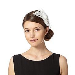 No. 1 Jenny Packham - Designer ivory embellished feather hair clip