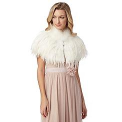 No. 1 Jenny Packham - Designer ivory feather shrug