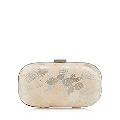 No. 1 Jenny Packham - Designer gold jacquard clutch bag