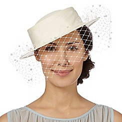 Top Hat by Stephen Jones - Designer cream boater hat
