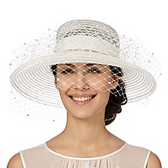 Top Hat by Stephen Jones - Designer ivory pearly veil hat