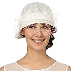Top Hat by Stephen Jones - Designer cream cloche hat
