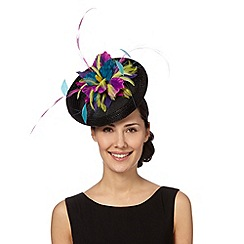 Top Hat by Stephen Jones - Designer black feather disc fascinator