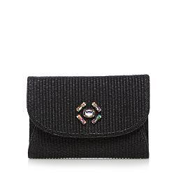 Designer black gem clutch bag