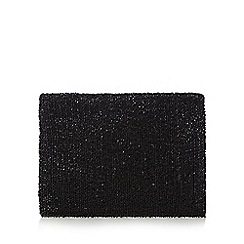 J by Jasper Conran - Black beaded clutch bag