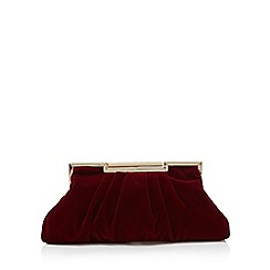 J by Jasper Conran - Red velvet clutch bag