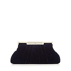 J by Jasper Conran - Dark blue velvet clutch bag