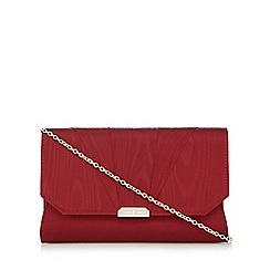 J by Jasper Conran - Dark red moire clutch bag