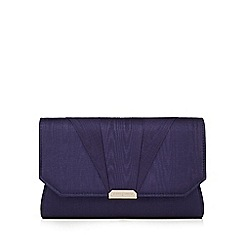 J by Jasper Conran - Navy moire clutch bag