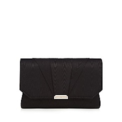 J by Jasper Conran - Black moire clutch bag