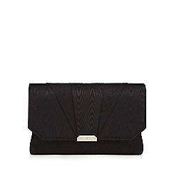 J by Jasper Conran - Black moire clutch bag
