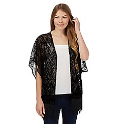 J by Jasper Conran - Black chevron devore shrug