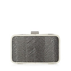 J by Jasper Conran - Dark grey wave shimmer box clutch bag