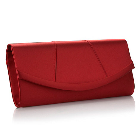Debut - Red curved panel clutch bag