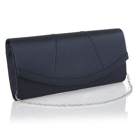 Debut - Black panelled satin clutch bag